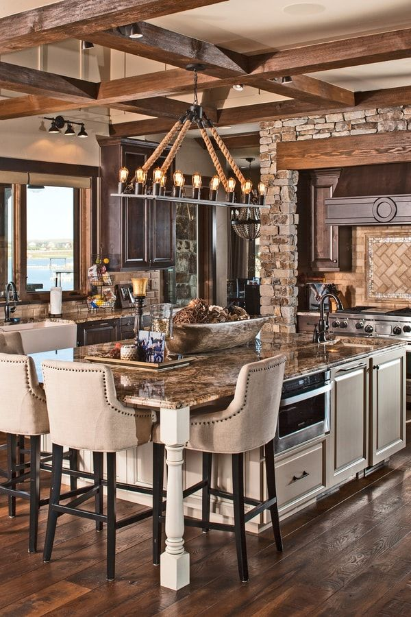 3 Bedrm 4531 Sq Ft Luxury House Plan 161 1076 In 2020 Rustic Kitchen Home Decor Kitchen Luxury House Plans