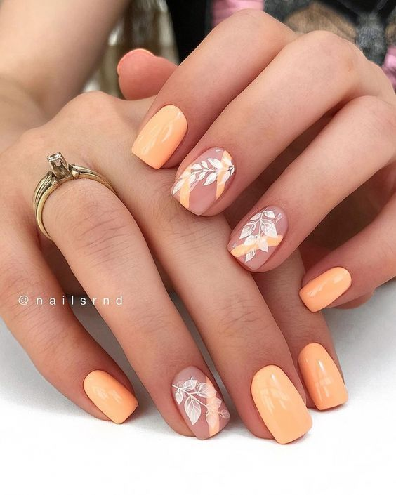 50 Amazing Nail Art Designs For Spring 2020 Page 57 Small Flash In 2020 Short Coffin Nails Designs Short Square Nails Square Nail Designs