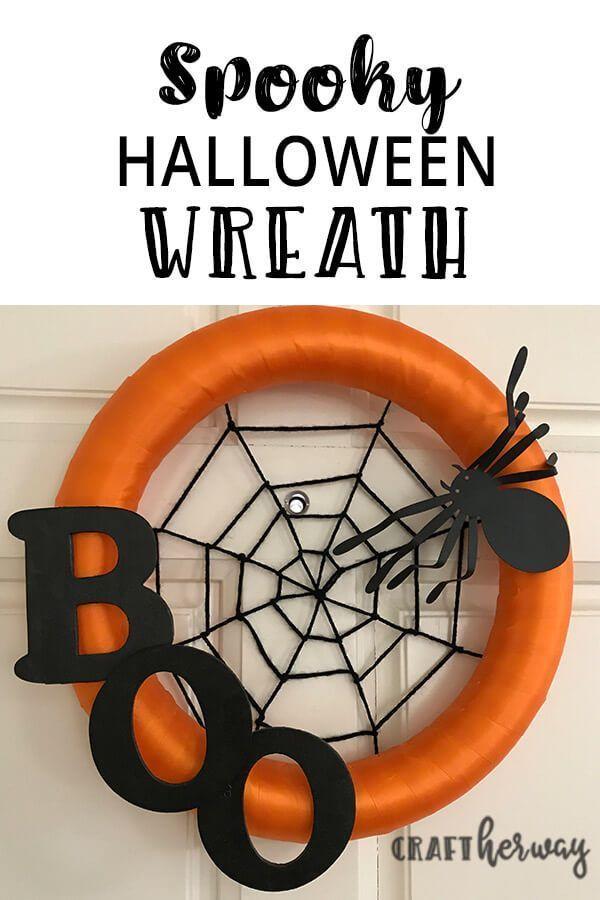 DIY Halloween Wreath #halloweenwreaths