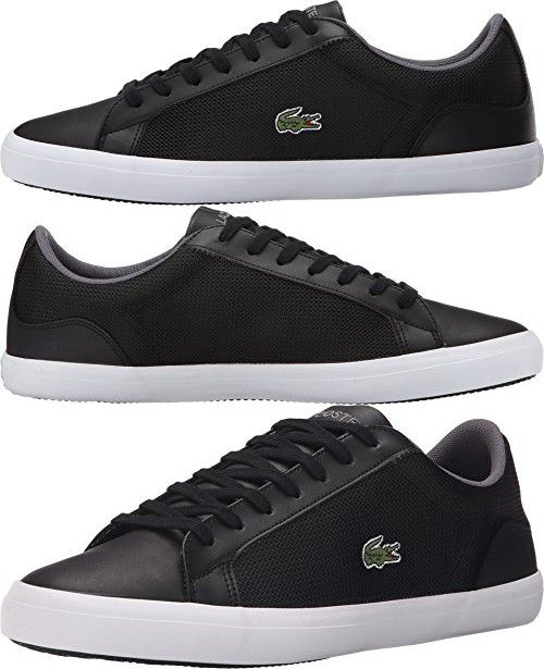 Lacoste Men S Lerond 116 1 Black Sneaker 9 5 M Mode Homme Mode Masculine Vetements Homme