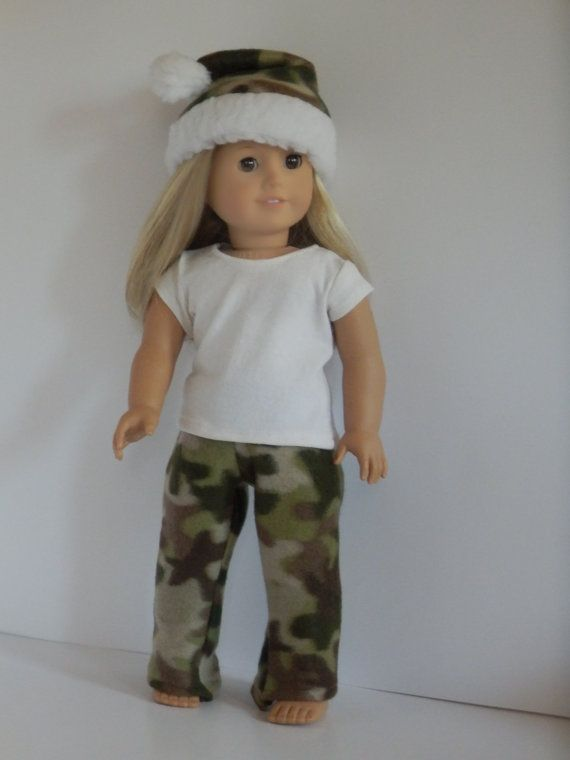 Camo and White Hunting Party Outfit for Dolls Like by something2do