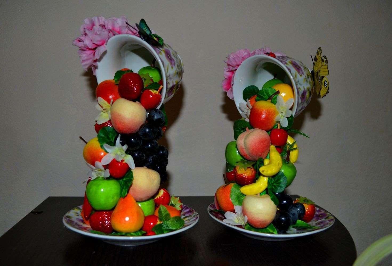 Топиарий с фруктами своими руками для начинающих фото 620