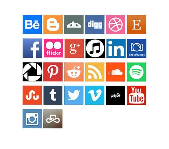 Social Media Icon Vinyl Decal For Business Home By Jinshop On Etsy - Vinyl stickers for marketing