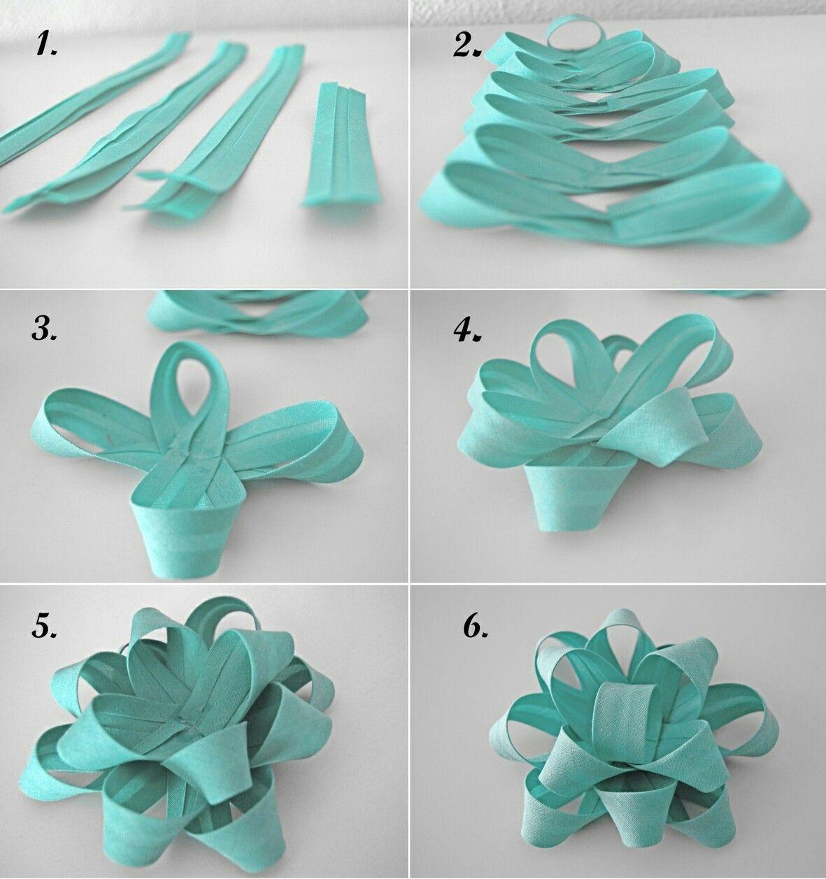 2e8931393b78 Como hacer moños de tela | Embalaje | Moños para regalo, Hacer lazos ...