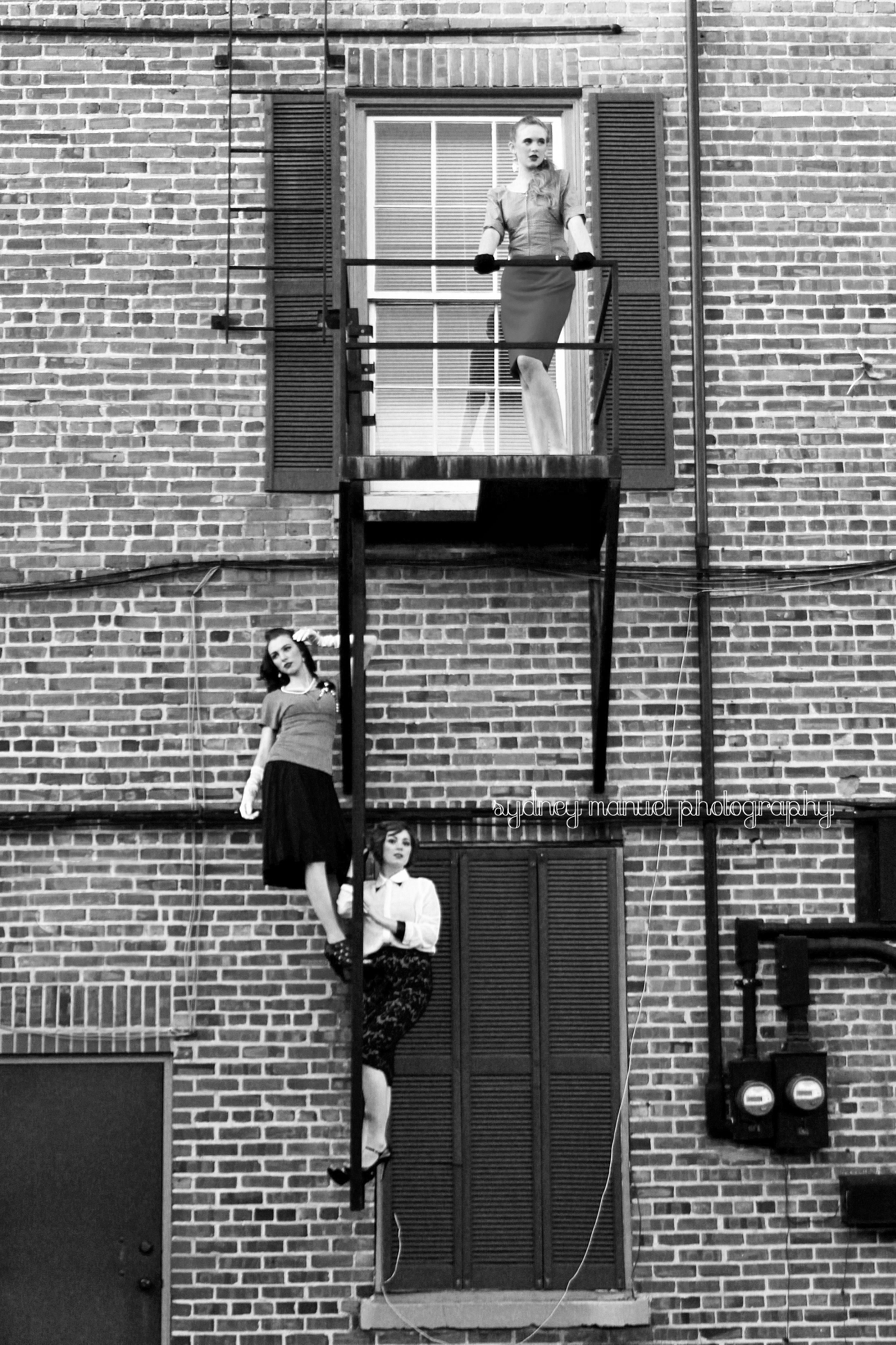 High fashion photography  Fire escape Sydney Manuel Photography