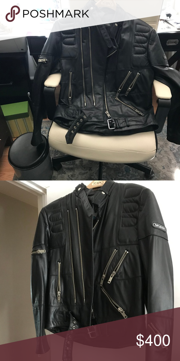 Hein Gericke Black Leather Motorcycle Jacket Hein Gericke