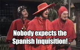 Resultado de imagem para spanish inquisition meme