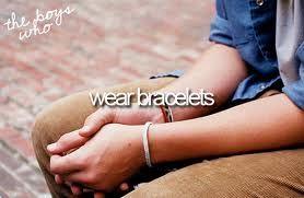 the boys who wear bracelets