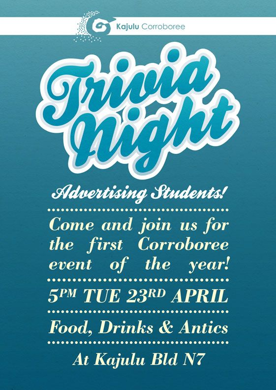 Poster Design For An Advertising Trivia Night Trivia Night Trivia Chalkboard Quote Art