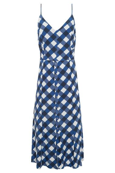 5732b9d17a3ad8 MARIA FILÓ - Vestido Vichy Botões - Azul - OQVestir | Work outfits ...