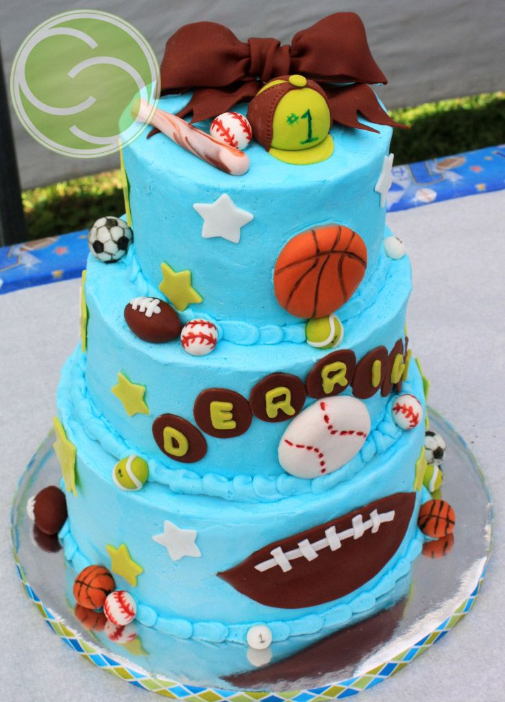 All Star Sports birthday boy cake Covered in buttercream and all