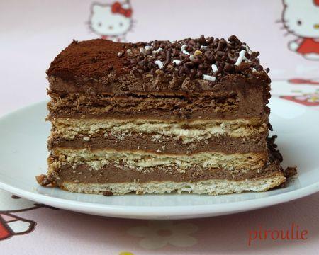 Gâteau aux petits-beurre, au chocolat et au café ...