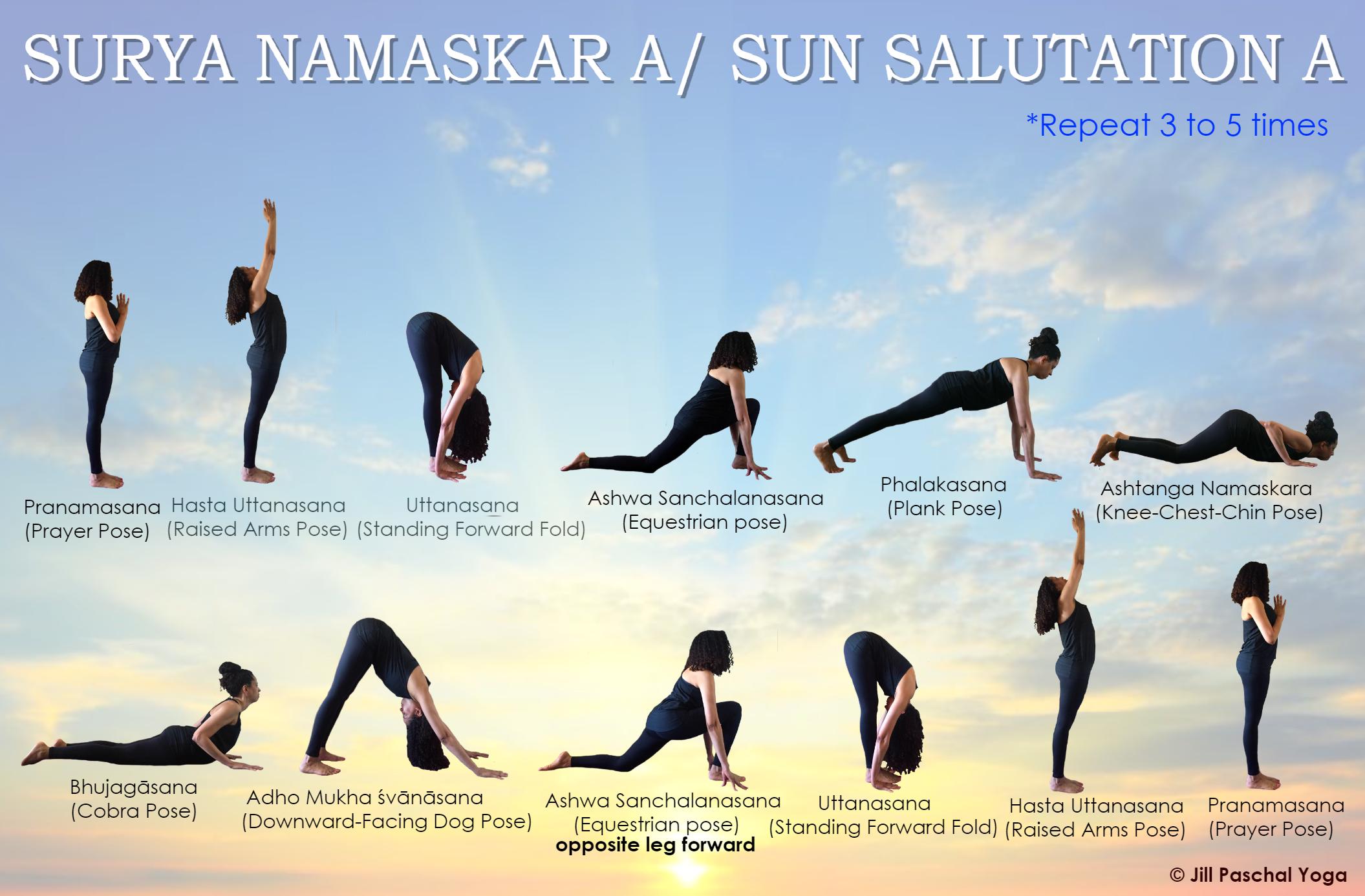 Sun Salutation A Hatha Yoga Surya Namaskar Sun Salutation Hatha Yoga