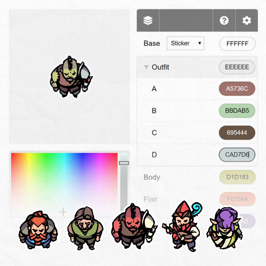 Hero / Player Character Tokens and Token Editor by 2-Minute