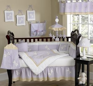One day....Dragonfly Dreams Lavender Baby Bedding - 9 pc Crib Set