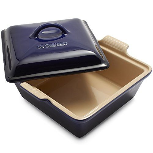 """Le Creuset Heritage Square Covered Baker PG08053A-2317 , 9"""", Indigo"""