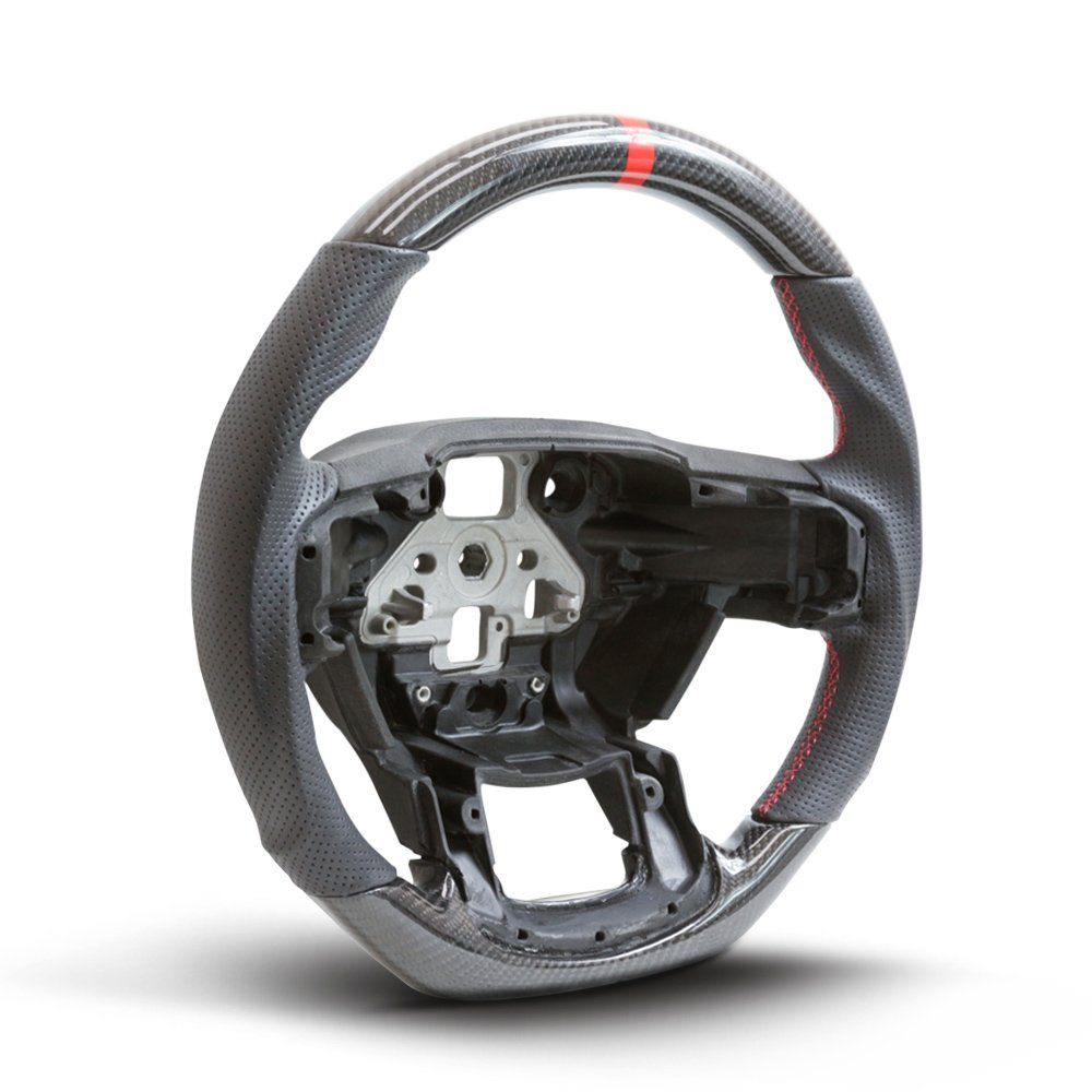 Handkraftd 2015 Ford F150 Steering Wheel Real Carbon Fiber