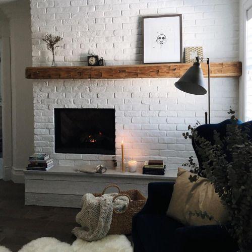 Erinelizakelley White Brick Fireplace Home Decor House Interior