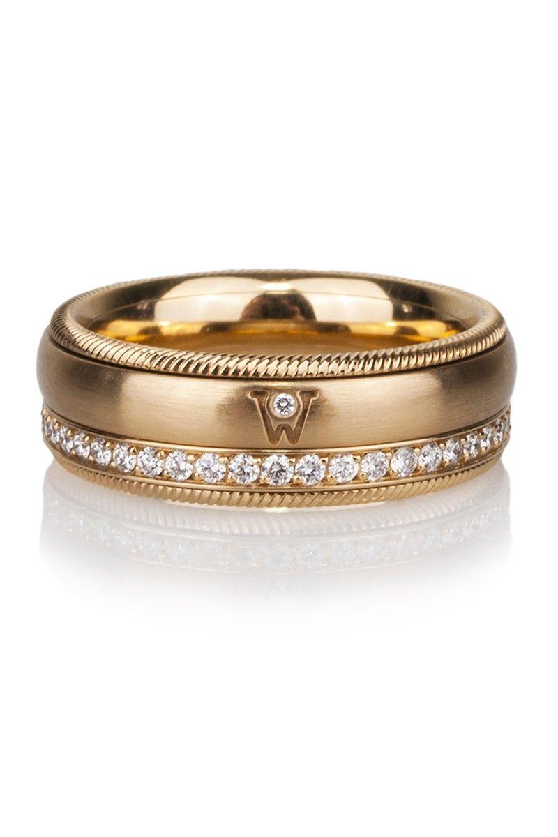 Gold & diamond spinner ring by German Jewelry Designers Wellendorff ...
