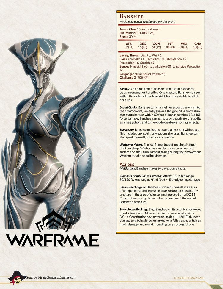warframe3.jpg Dungeons and dragons homebrew, Monster