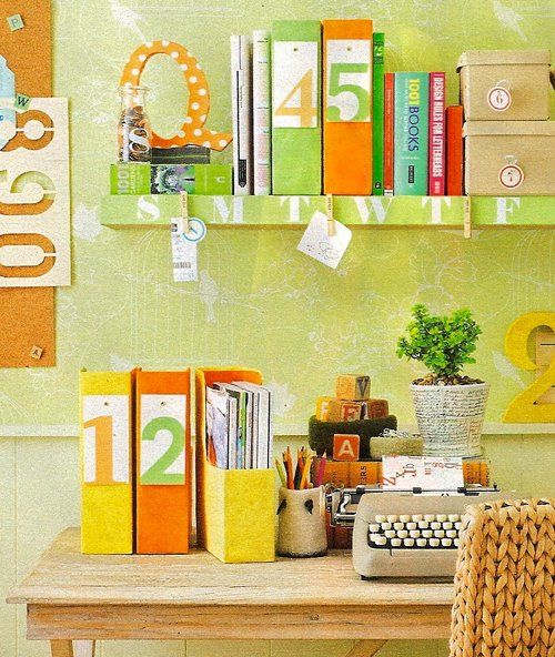 Lining Shelf Edge with Clothespins for Desktop Papers — Better Homes & Gardens