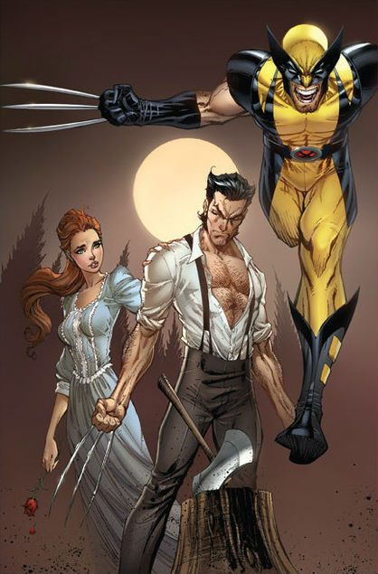 Wolverine and Rose O'Hara by  J.Scott Campbell