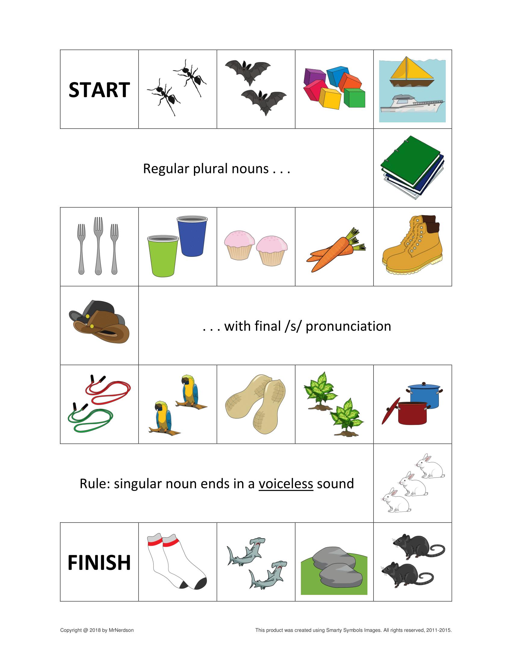 Regular Plural Nouns Games For Final S Z ɪz Sounds Plurals Speech Language Activities Plural Nouns [ 2200 x 1700 Pixel ]
