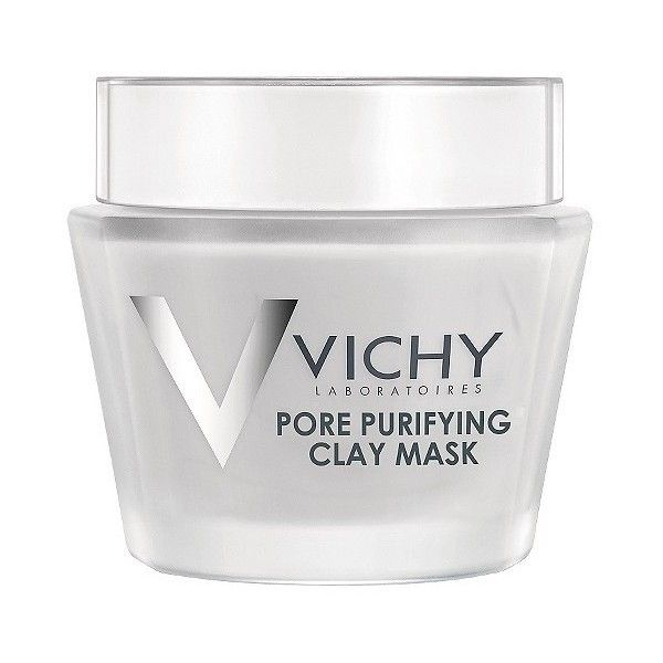 Vichy Laboratories Pore Purifying Clay Mask . oz (£16) ❤ liked on Polyvore featuring beauty products, skincare, face care, face masks, facial clay mask, facial mud mask, clay mask, clay face mask and mud face mask