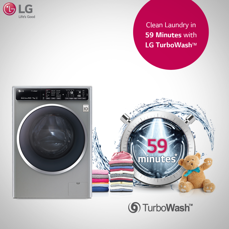 Need More Time For Yourself Bring Home An Lg Washingmachine To Take Care Countertop Appliance Storage Front Loading Washing Machine Appliances Storage