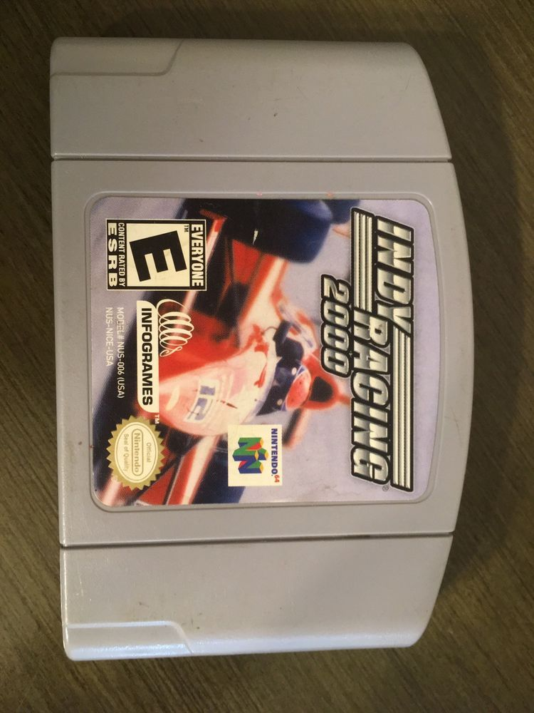 Indy Racing 2000 Nintendo 64 N64 Tested Cartridge Only Free