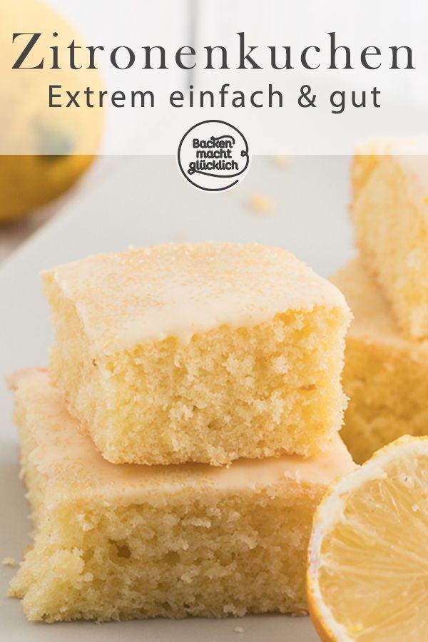 Saftiger Zitronenkuchen vom Blech | Backen macht glücklich