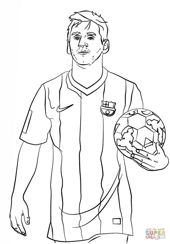 gratis malvorlagen fußball  messi soccer lionel messi messi