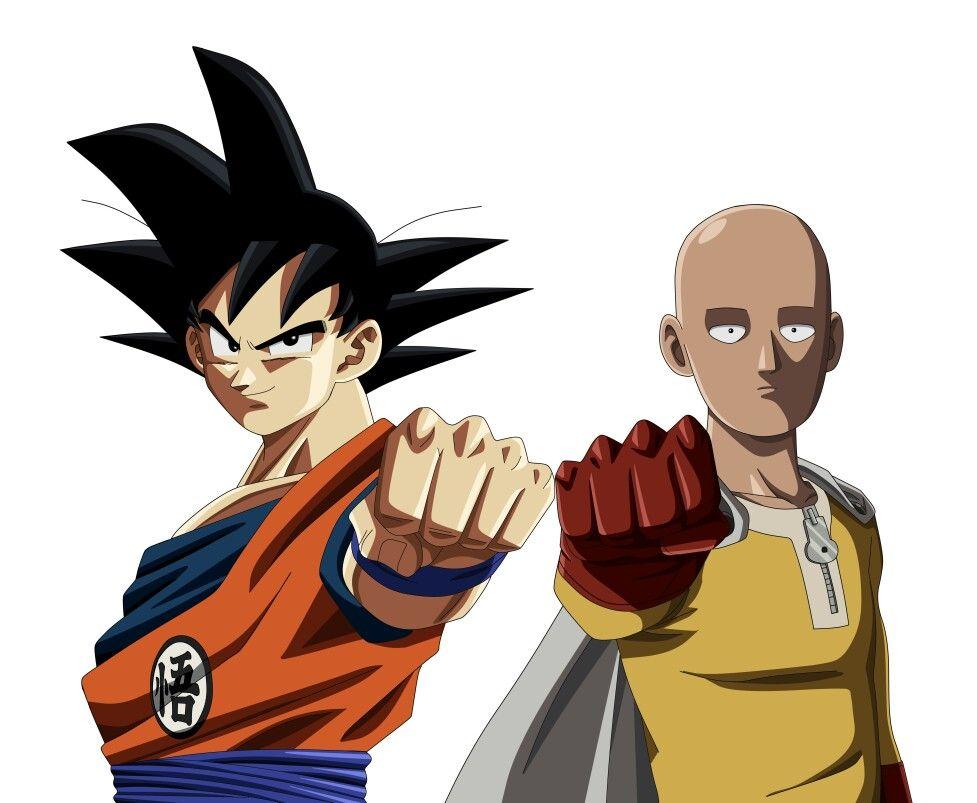 Goku And Saitama Dragon Ball Goku Dragon Ball Super One Punch Man
