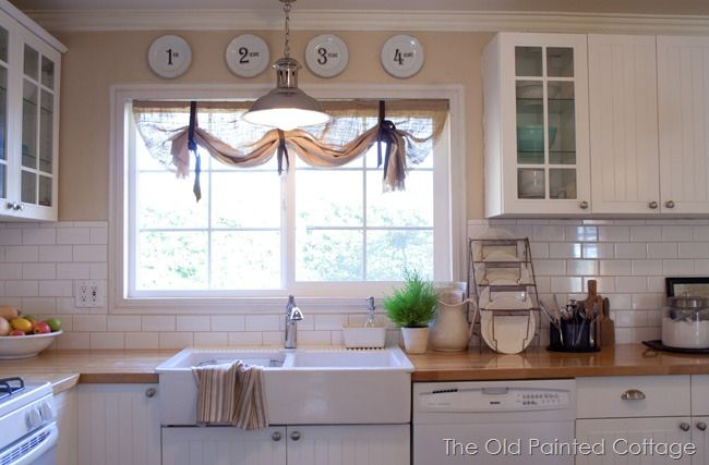 love these burlap curtains