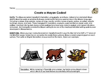 why did the mayans create a detailed writing system