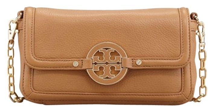 692954127d1635 Tory Burch Nwt Mini Amanda Leather Logo Handbag Gold Chain  275 With Gift  Receipt    get  25off Use Code Gift25    Royal Tan Cross Body Bag.