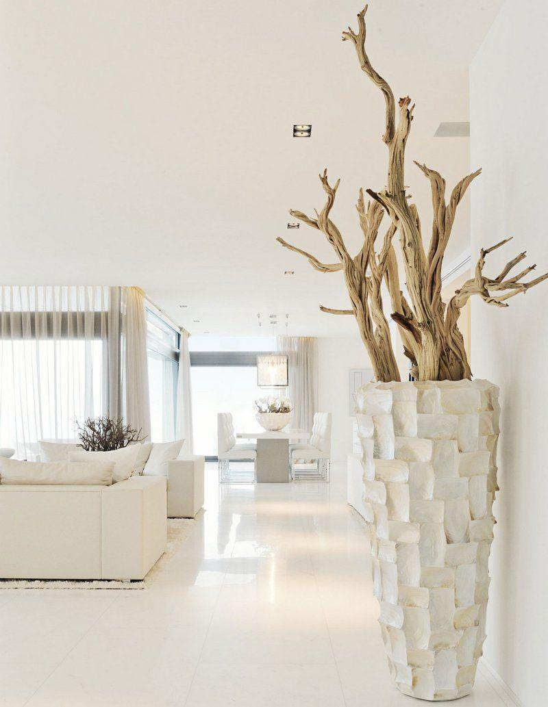 d co bord de mer moderne en bois flott dans un vase de sol bazar pinterest deco bord de. Black Bedroom Furniture Sets. Home Design Ideas
