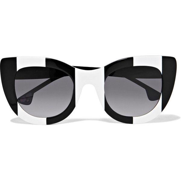 Alice + Olivia Delancey Cat-eye Acetate Sunglasses (€400