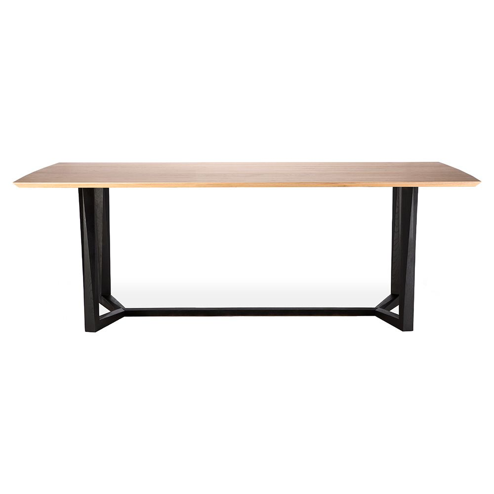 Facette Dining Table Varnished Oak The Defining Feature Of The