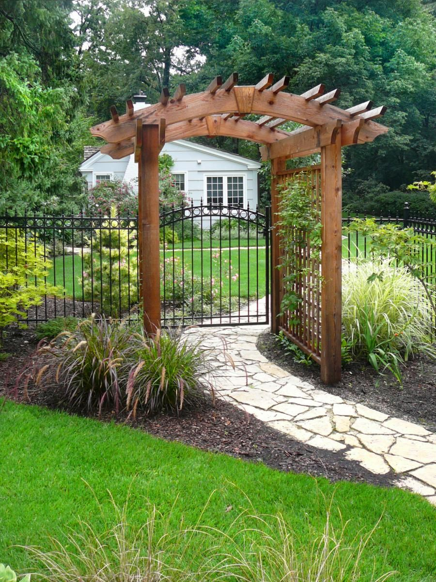 Custom trellis to match pergola landscapes by earth design - Custom Cedar Trellis And Pergola Design