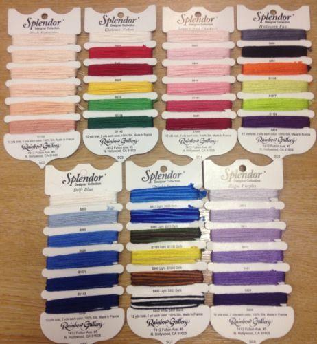 Splendor Designer Collection embroidery thread multi pack needlepoint silks