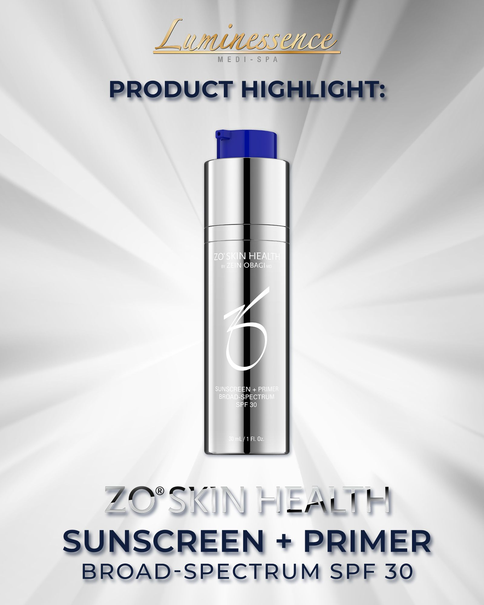 ZO® Skin Health's Sunscreen + Primer in 2020 Medispa