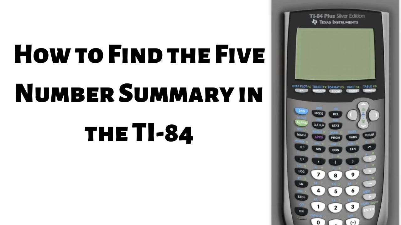 How To Find The Five Number Summary With The Ti 84 In 2020 Math Videos Graphing Calculator Sines