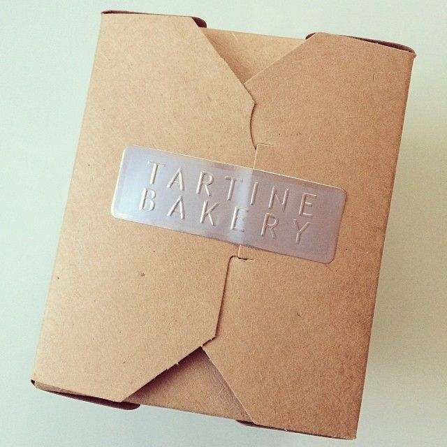 Tartine Bakery, packaging, food packaging, kraft, brown