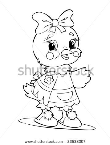 Illustration of the little amusing chicken