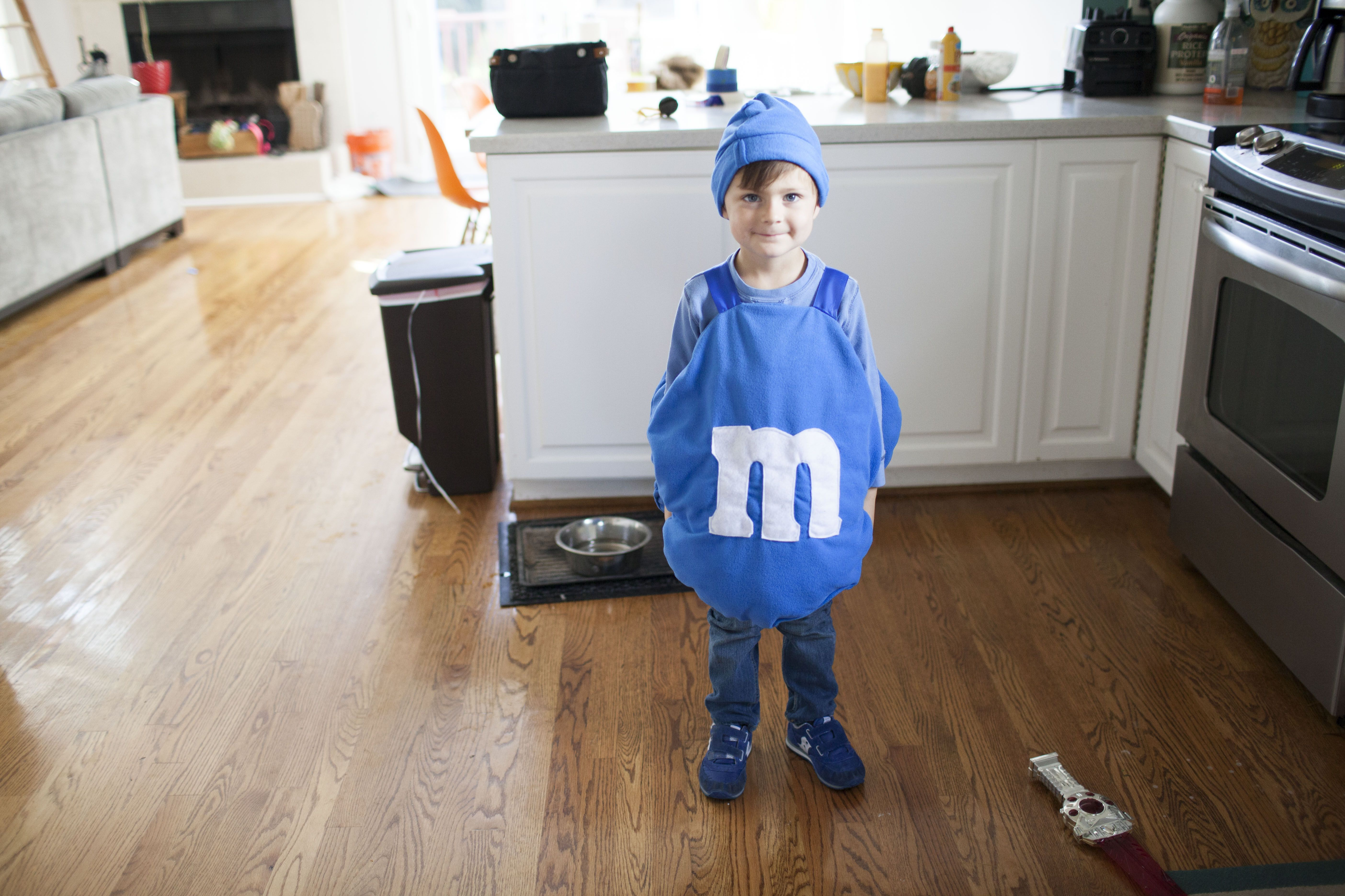 This year milo decided he wanted to be an M&M for halloween. A few weeks ago joanne's was having a sale – all fleece 50% percent off, so I was able to make him this costume in no ti… #mamp;mcostumediy