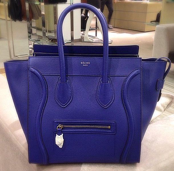 celine blue handbags