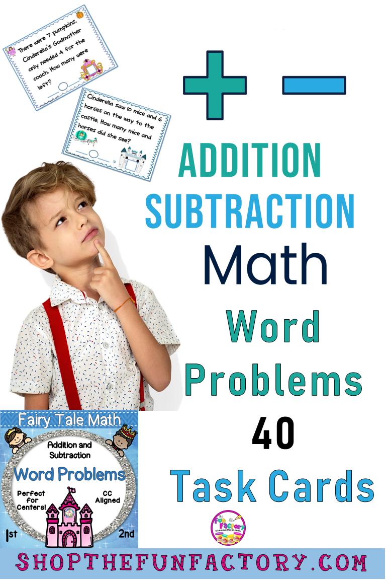 Word Problem Activities, Addition and Subtraction 1st and 2nd Grades ...