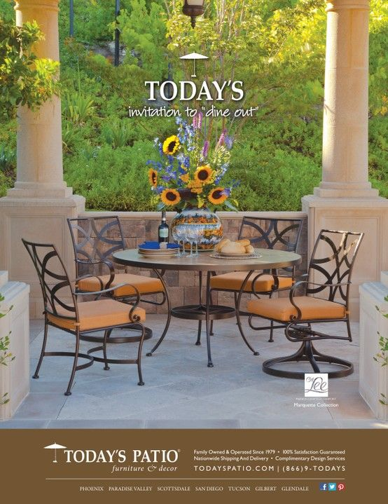 OW Lee Marquette Collection - Today's Patio Magazine Ad - OW Lee Marquette Collection - Today's Patio Magazine Ad Today's