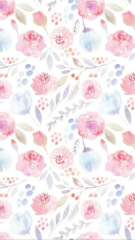 Wallpaper Iphone Watercolor Flowers Floral Wallpaper Flower